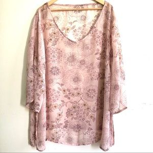 Silk georgette cover-up 3X